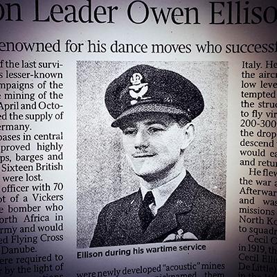 LAST POST! WW2 VETERAN SQUADRON COMMANDER CECIL OWEN ELLISON