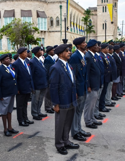 Barbados Legion on Parade Remembrance Day 2018