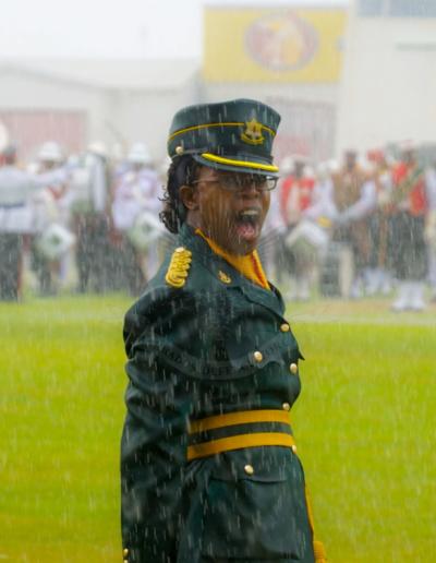 Independence Parade 2018 Corps Of Women Detachment Commander - Captain K Harvey