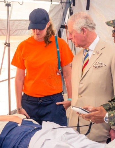 His Royal Highness, the Prince of Wales visit of The Barbados Defence Force's Field Medical Facility