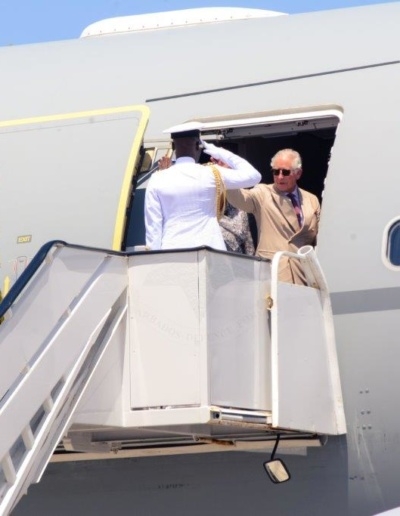 Their Royal Highnesses, the Prince of Wales and the Duchess of Cornwall Departs Barbados