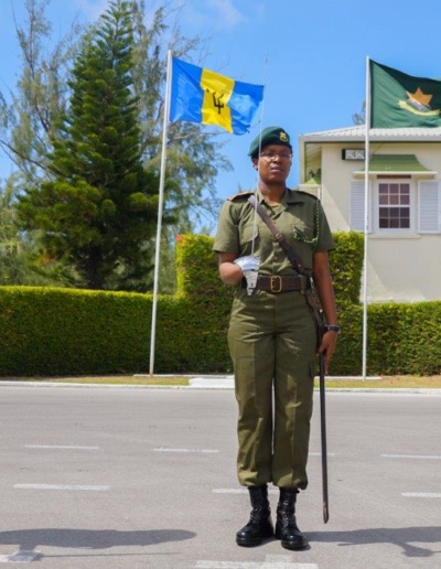 Officers of the BDF Attending the Adjutant's Drill Parade