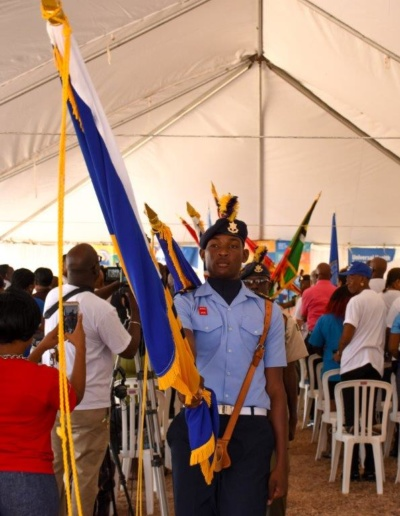 Members of the Barbados Cadet Corps at the PAHO World Health Day Human Link