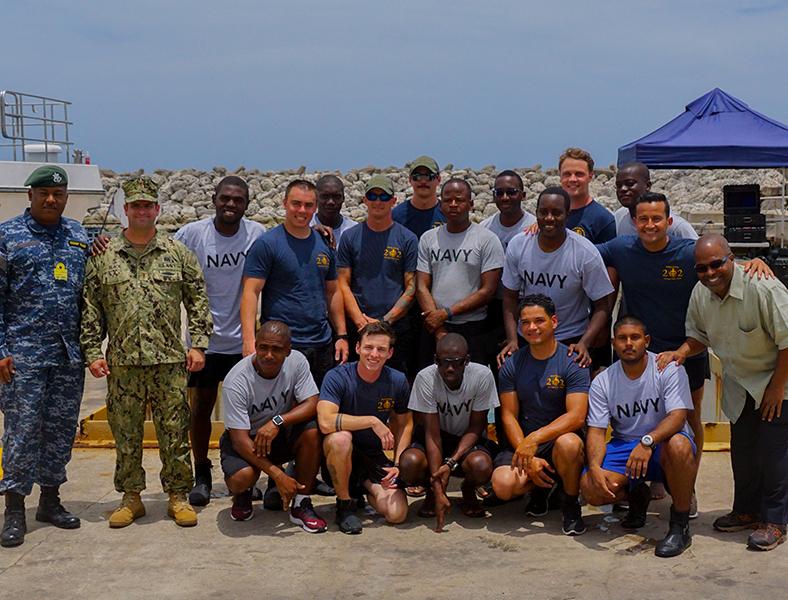 Barbados Coast Guard Dive Training