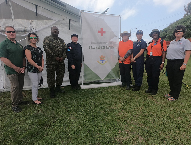 Barbados Receives Positive Reviews Field Medical Facility